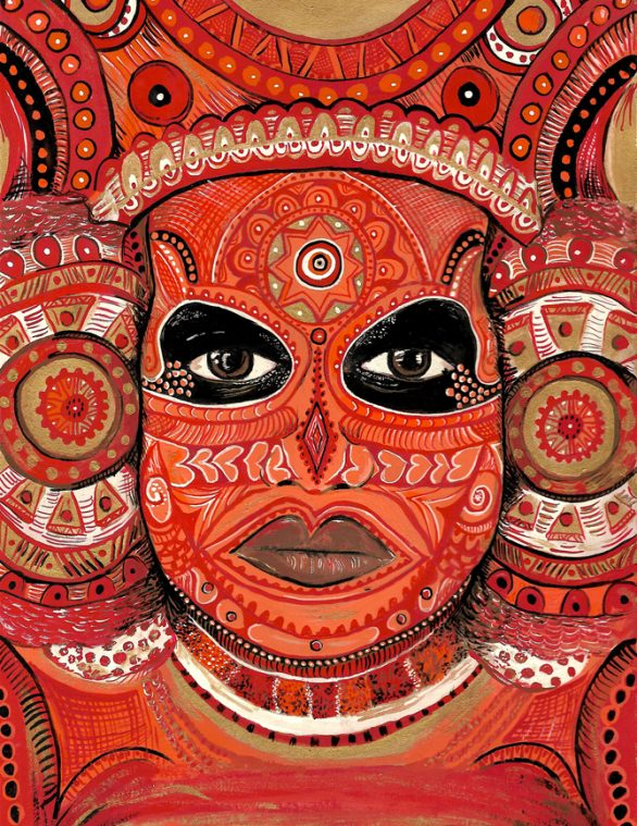 BODY ART OF THEYYAM