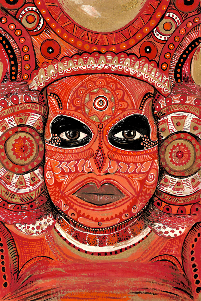 Theyyam Painting by Lizzie Rigby